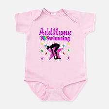 LOVE SWIMMING Infant Bodysuit