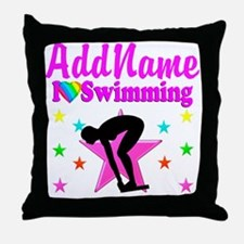 LOVE SWIMMING Throw Pillow