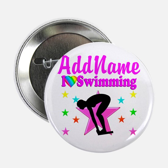 "LOVE SWIMMING 2.25"" Button"