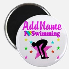 "LOVE SWIMMING 2.25"" Magnet (100 pack)"