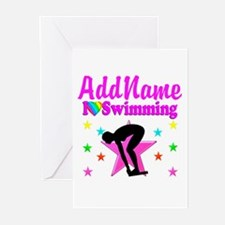 LOVE SWIMMING Greeting Cards (Pk of 10)