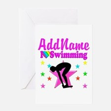LOVE SWIMMING Greeting Card