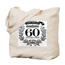 60th birthday vintage design Tote Bag