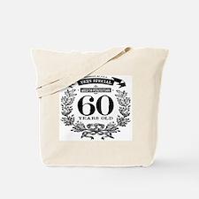 60th birthday vintage design Tote Bag