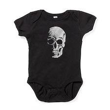 chalk skull sketch Baby Bodysuit