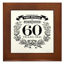 60th birthday vintage design Framed Tile