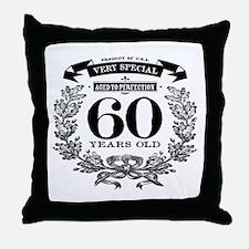 60th birthday vintage design Throw Pillow