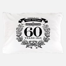 60th birthday vintage design Pillow Case