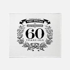 60th birthday vintage design Throw Blanket