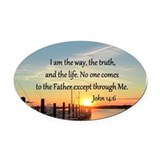 Bible verses Oval Car Magnets