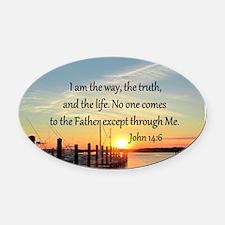 JOHN 14:6 Oval Car Magnet