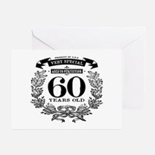 60th birthday vintage design Greeting Cards