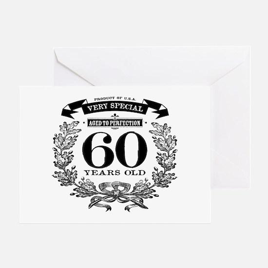 60th birthday vintage design Greeting Cards
