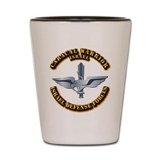 Israel - Caracal Warrior With Text Shot Glass
