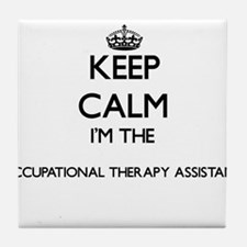 Keep calm I'm the Occupational Therap Tile Coaster
