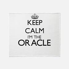 Keep calm I'm the Oracle Throw Blanket