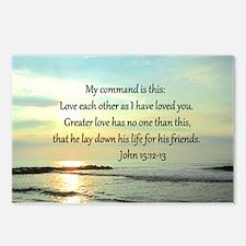JOHN 15:12 Postcards (Package of 8)