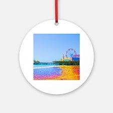 Funky Pixels Pier Ornament (Round)