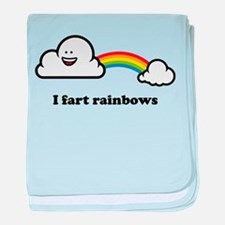 I fart rainbows baby blanket