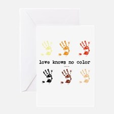love knows no color Greeting Card