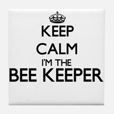 Keep calm I'm the Bee Keeper Tile Coaster