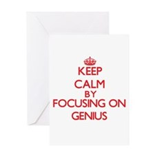Keep Calm by focusing on Genius Greeting Cards