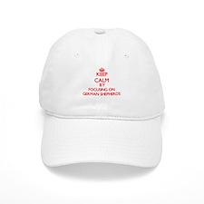 Keep Calm by focusing on German Shepherds Baseball Cap