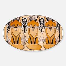 Art nouveau foxes Bumper Stickers