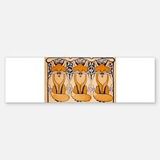 Art nouveau foxes Bumper Bumper Bumper Sticker