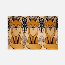 Art nouveau foxes Magnets