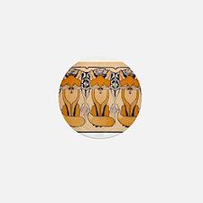 Art nouveau foxes Mini Button