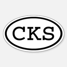CKS Oval Oval Decal