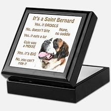 Saint Bernard FAQ Keepsake Box