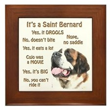 Saint Bernard FAQ Framed Tile