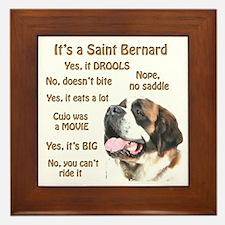 Saint Bernard FAQ Framed Tile