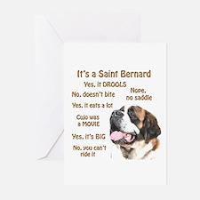 Saint Bernard FAQ Greeting Cards (Pk of 10)