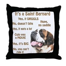 Saint Bernard FAQ Throw Pillow