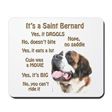 Saint Bernard FAQ Mousepad
