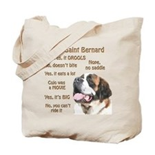 Saint Bernard FAQ Tote Bag