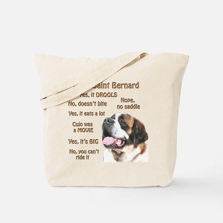 Saint Bernard FAQ Tote Bag