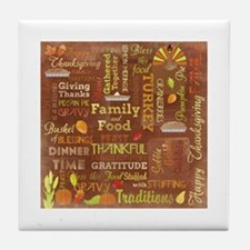 Thanksgiving Tile Coaster