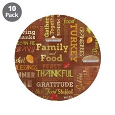 """Thanksgiving 3.5"""" Button (10 pack)"""