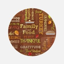 "Thanksgiving 3.5"" Button"