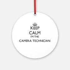 Keep calm I'm the Camera Technici Ornament (Round)