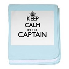 Keep calm I'm the Captain baby blanket