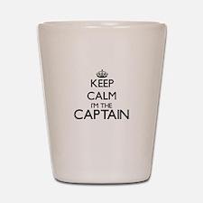 Keep calm I'm the Captain Shot Glass