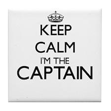 Keep calm I'm the Captain Tile Coaster
