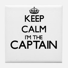 Keep calm I'm the Captain Tile Coaster