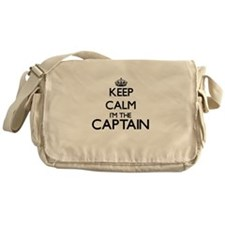 Keep calm I'm the Captain Messenger Bag