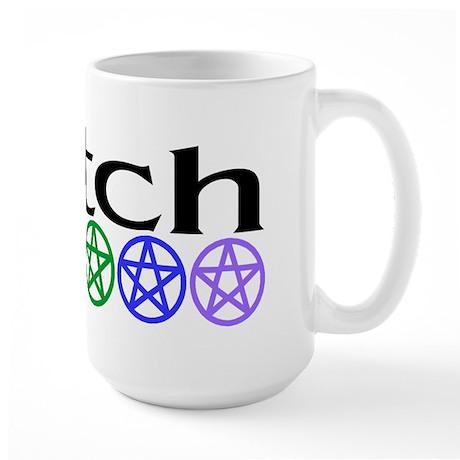Rainbow Pentacles & Witch Large Mug
